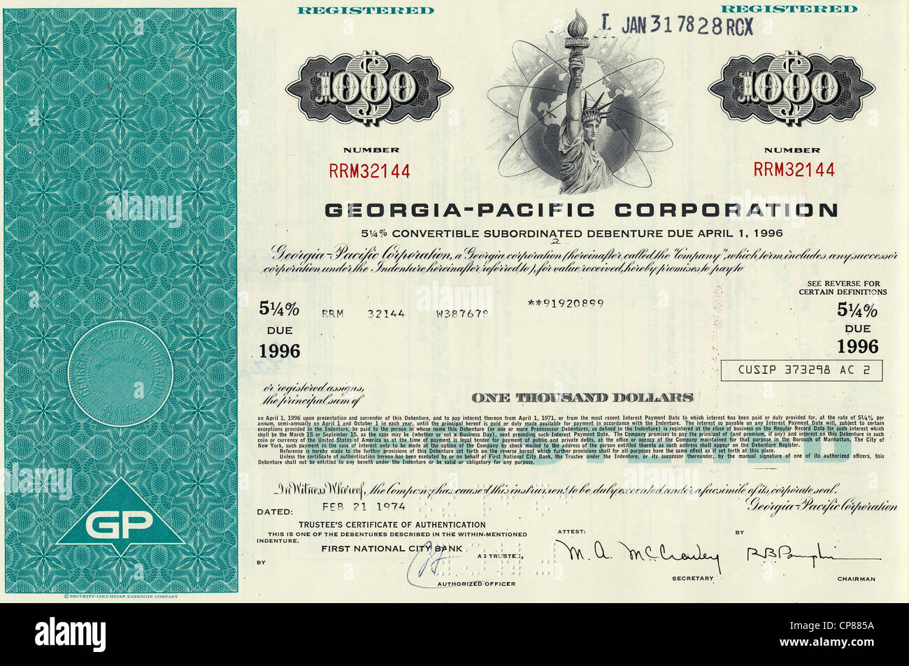 Globe trading company stock photos globe trading company stock historic stock certificate statue of liberty with a globe georgia pacific corporation biocorpaavc Images