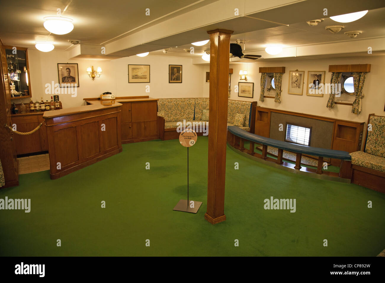 The wardroom anteroom inside the royal yacht britannia for Pictures inside