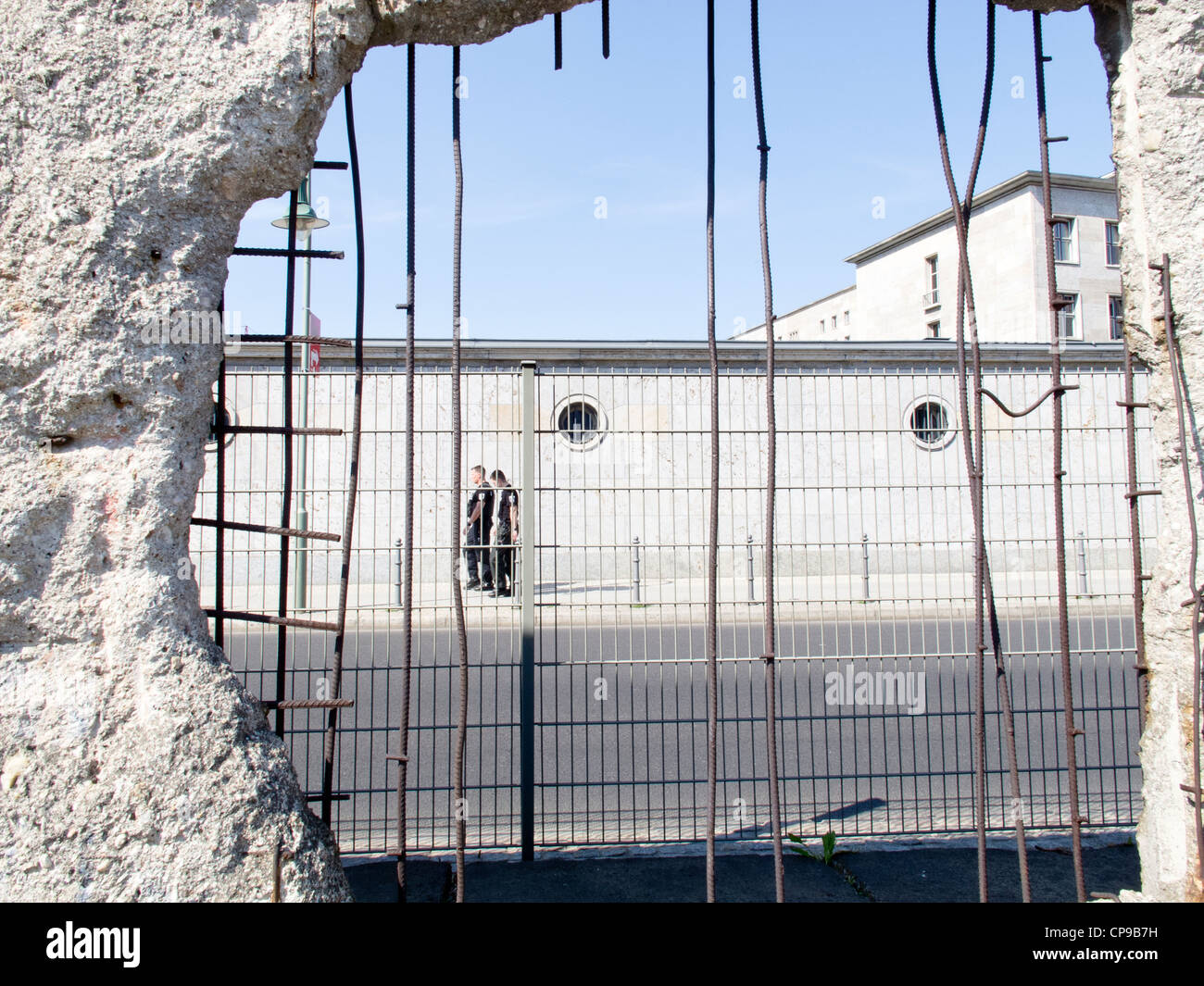 Stock photo topography of terror museum a hole in the berlin wall