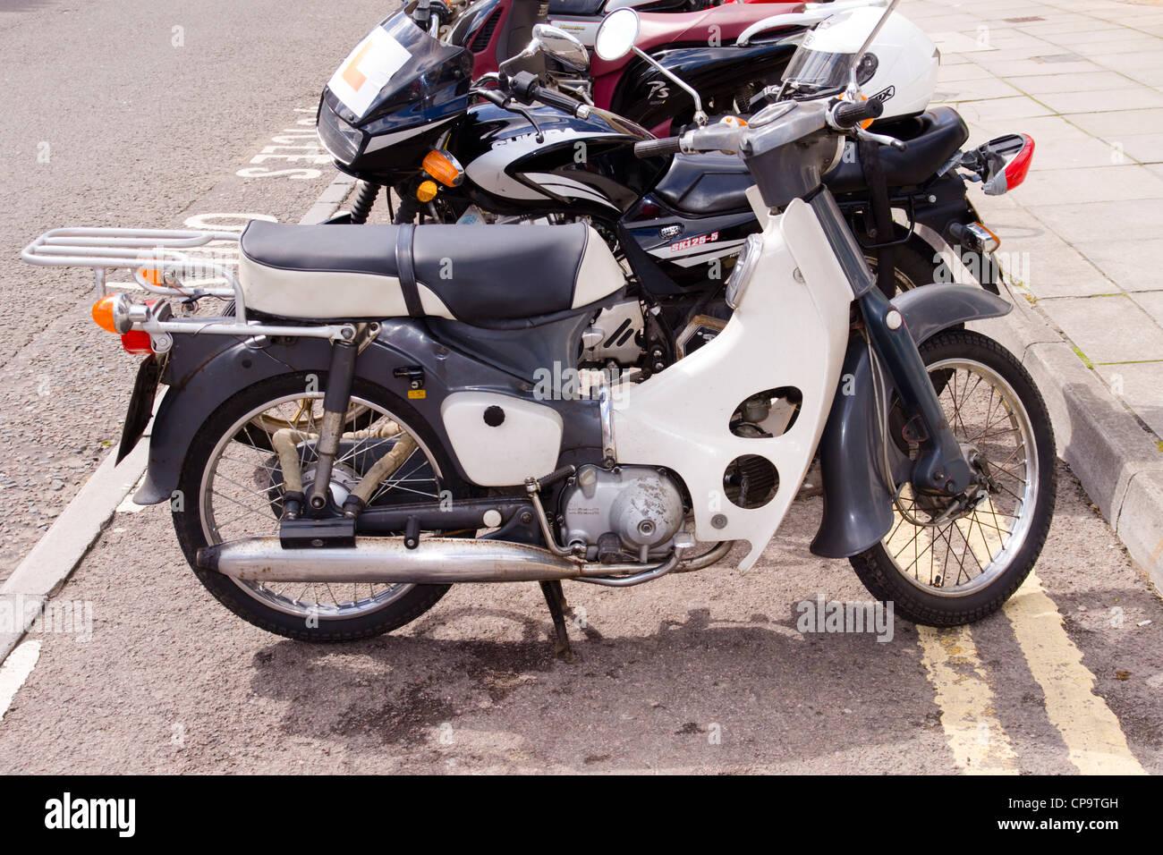 honda cub c90 motorcycle stock photo, royalty free image: 48160017