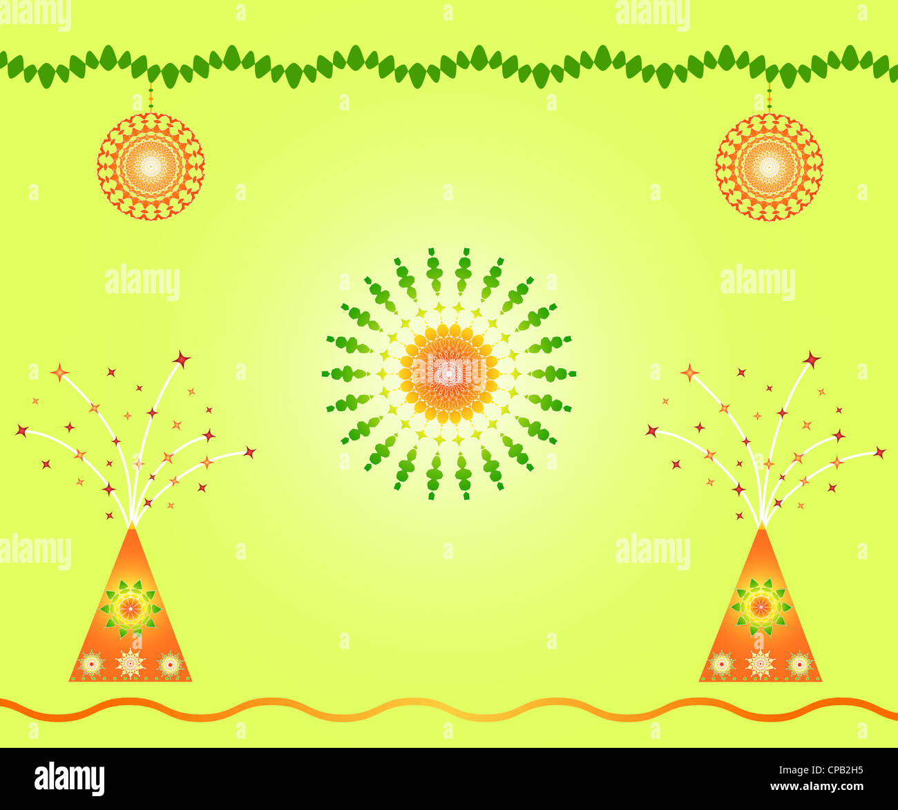 Indian Festival Decoration Indian Festival Decoration And Celebration Fireworks Stock Photo