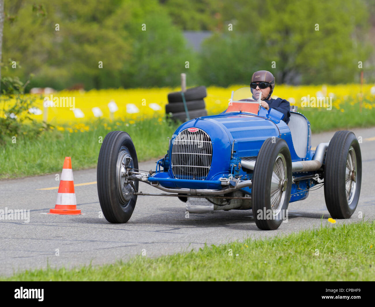 vintage pre war race car bugatti t 54 50b from 1936 at grand prix in stock photo royalty free. Black Bedroom Furniture Sets. Home Design Ideas