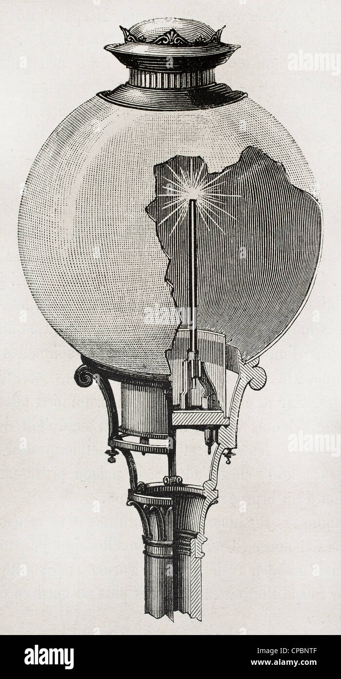 Yablochkov Candle Electric Arc Lamp Invented By Russian Engineer Paul 1847 1894
