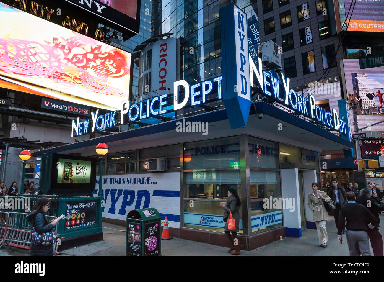 New york police department nypd station times square for Bureau new york