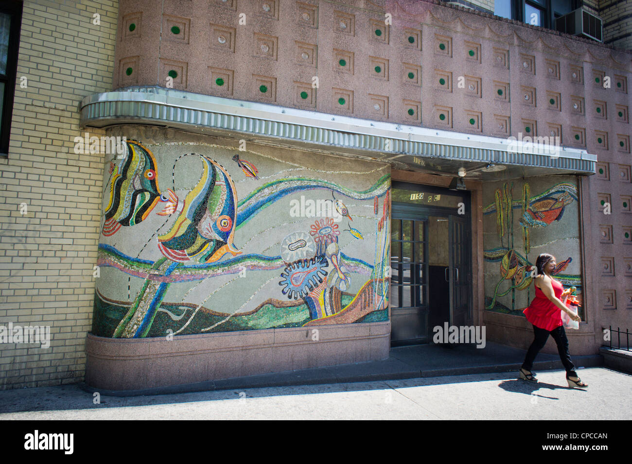 Mosaic Mural Adorns The Entrance Of An Art Deco Art
