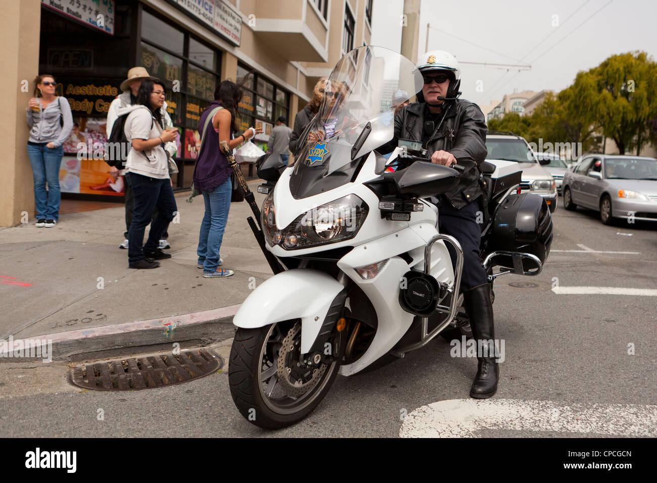 Marvelous Motorcycle Us #2: Stock Photo - US Motorcycle Cop - San Francisco, California USA