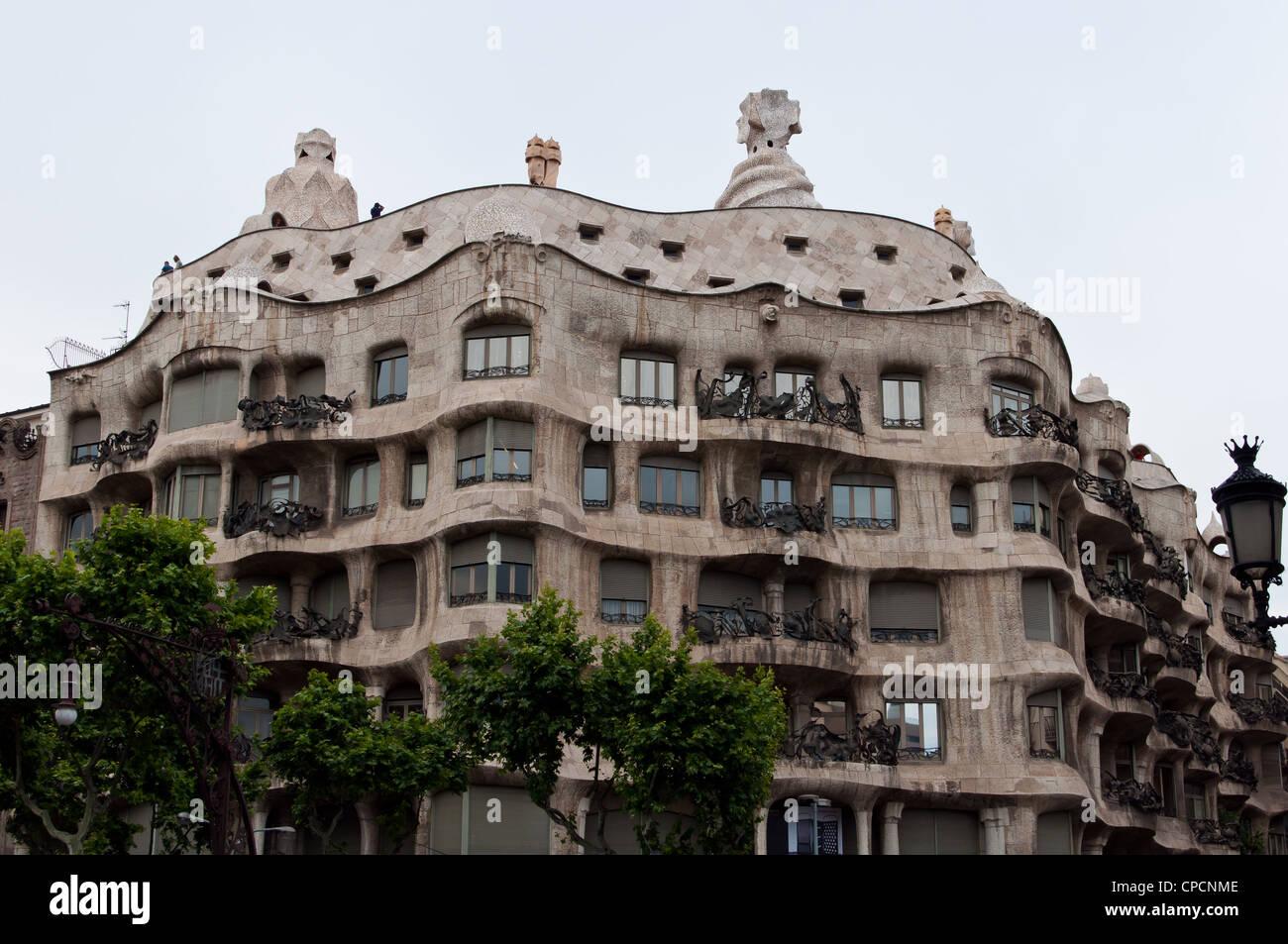 Casa mil la pedrera masterpiece of antoni gaudi barcelona stock photo royalty free image - Casa la pedrera gaudi ...
