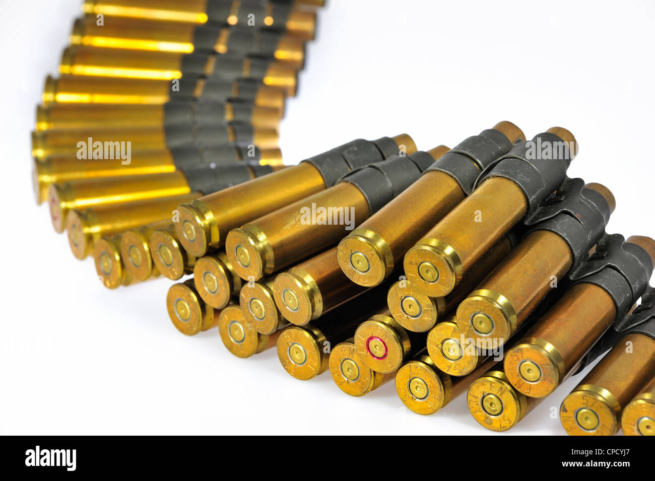 M2 Browning .50 caliber machine gun cartridges in ...