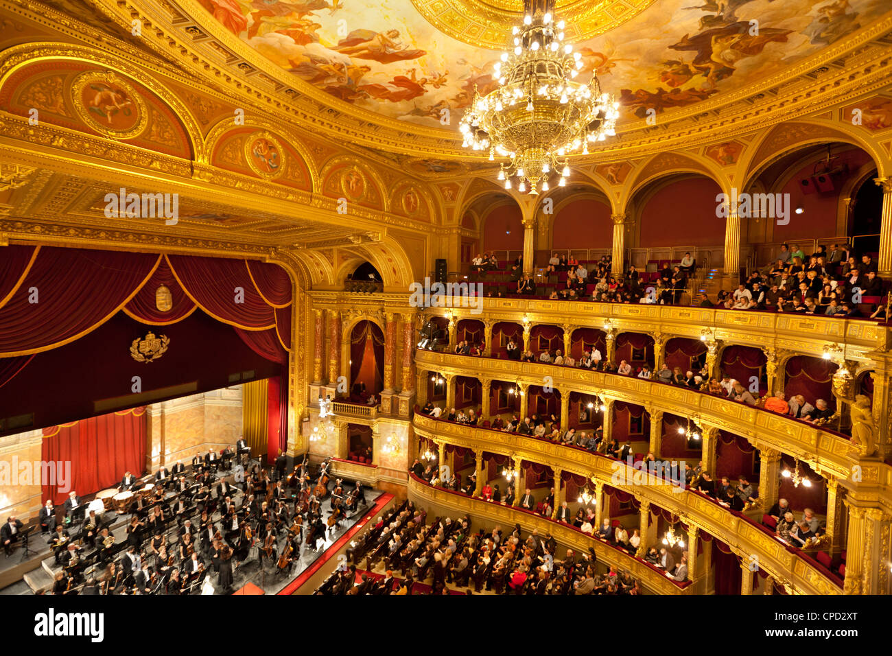 state opera house magyar allami operahaz with budapest philharmonic stock photo royalty free. Black Bedroom Furniture Sets. Home Design Ideas