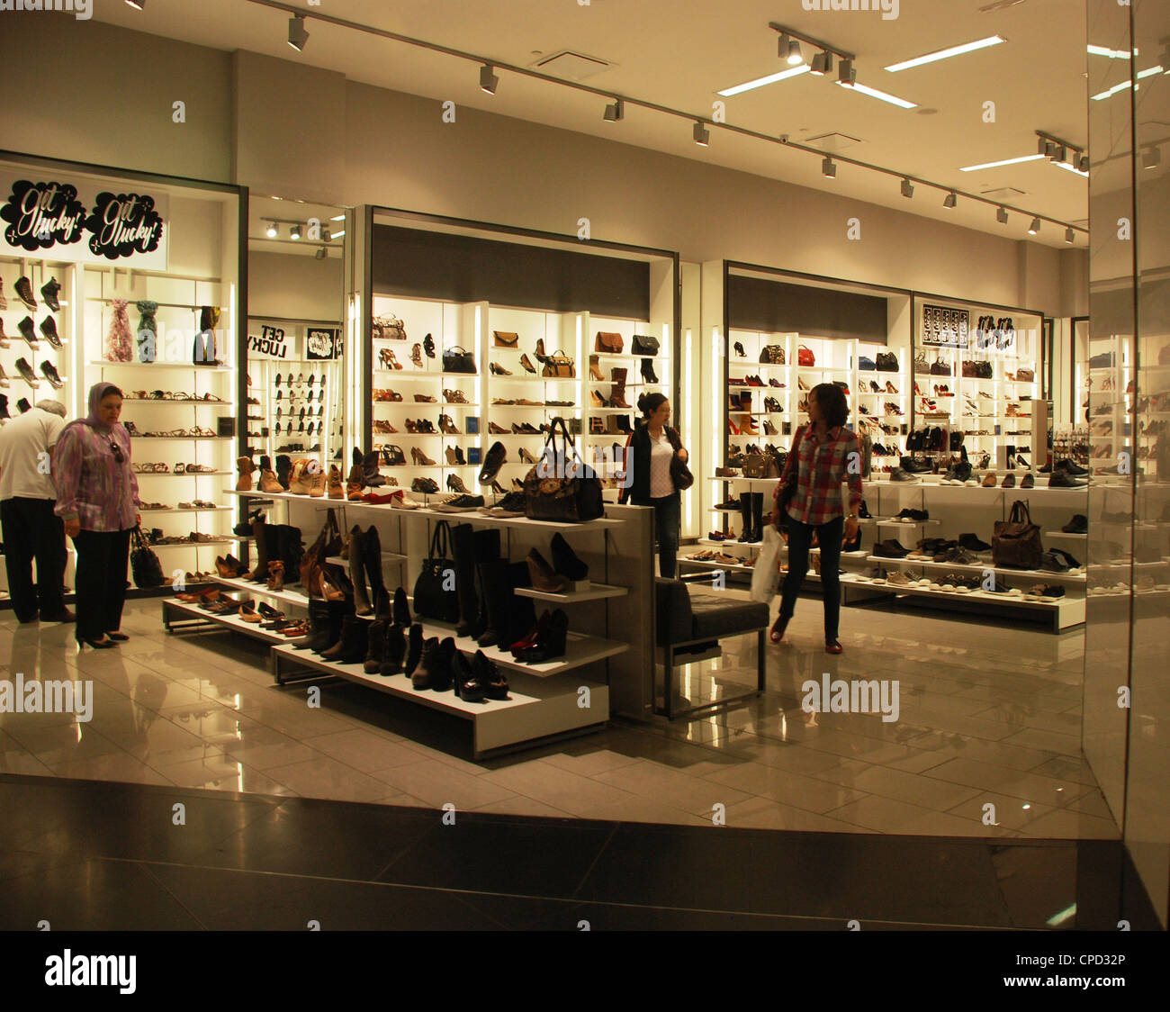 Shopping Mall Inside The Burj Khalifa Dubai Stock Photo