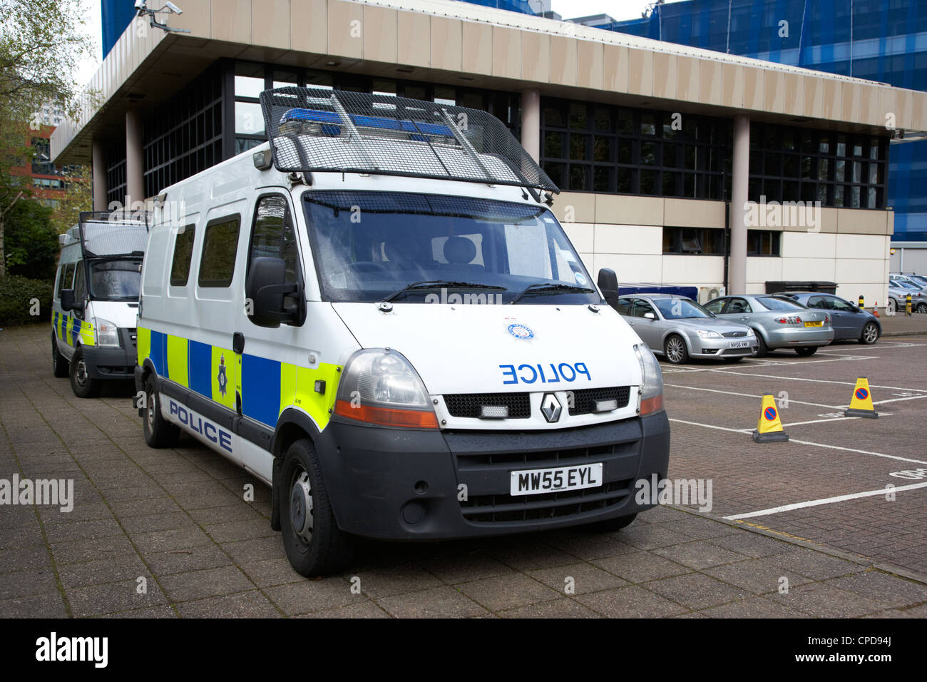 British transport police vans outside the area - British transport police press office ...