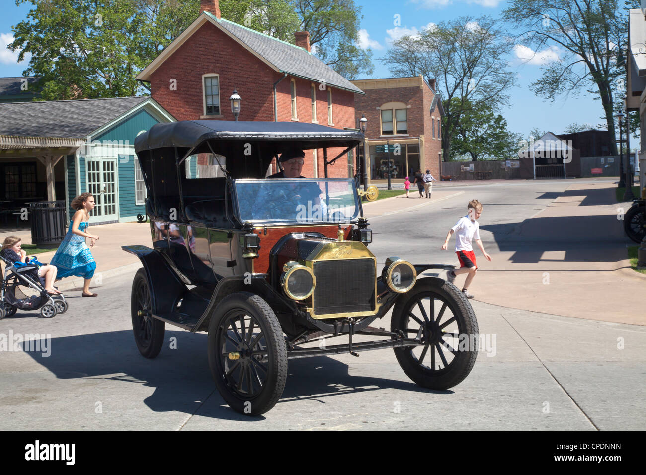 Ford model t at greenfield village dearborn michigan stock image