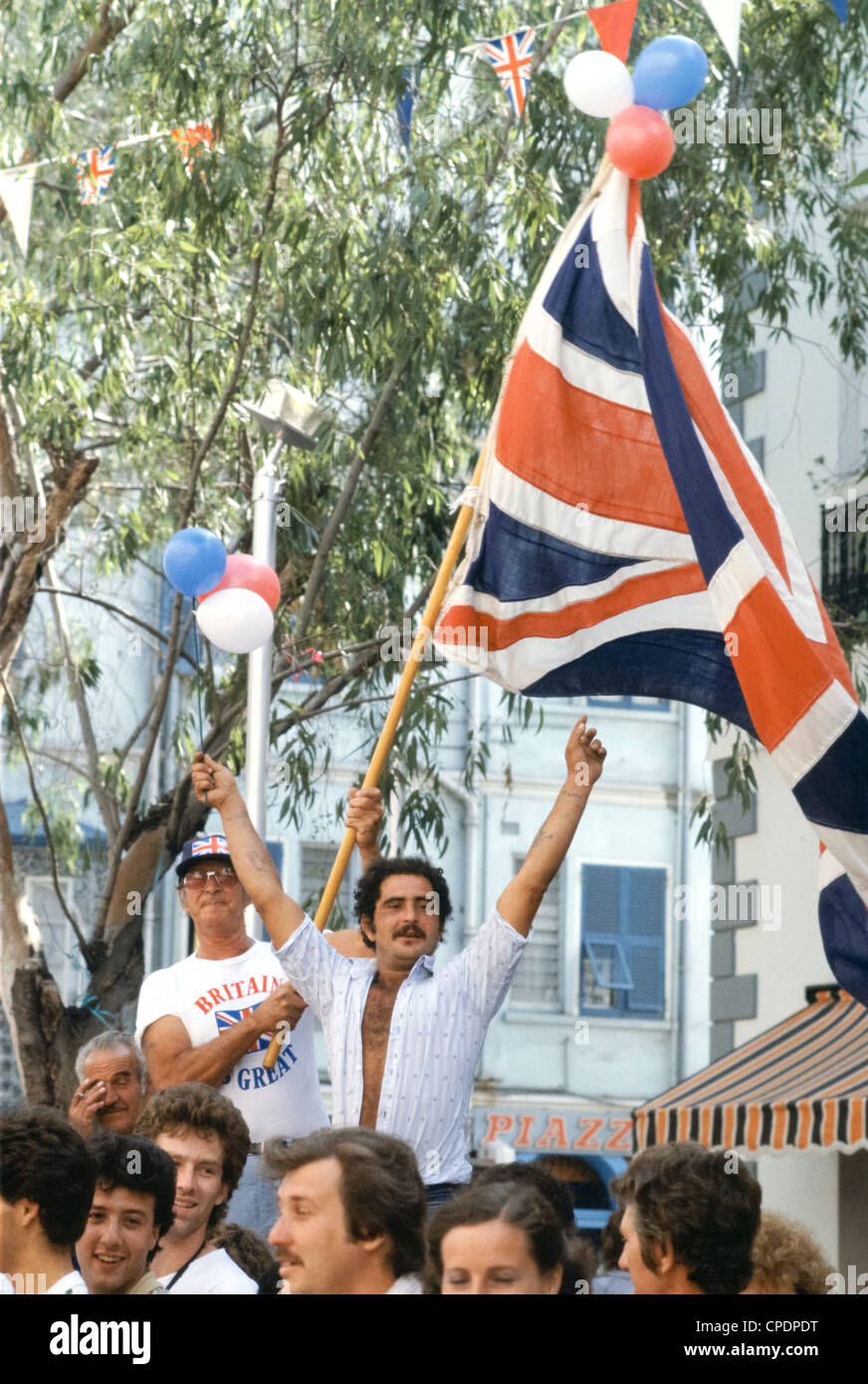 union jack flags britain is great patriotism in gibraltar a