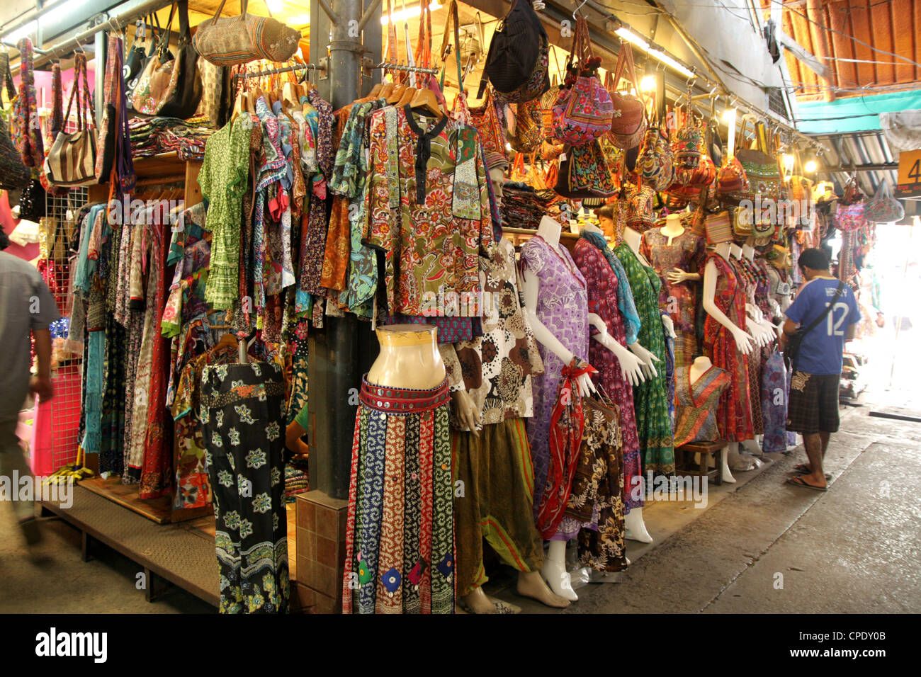 Cloths shop in Chatuchak Weekend Market , Bangkok Stock ...