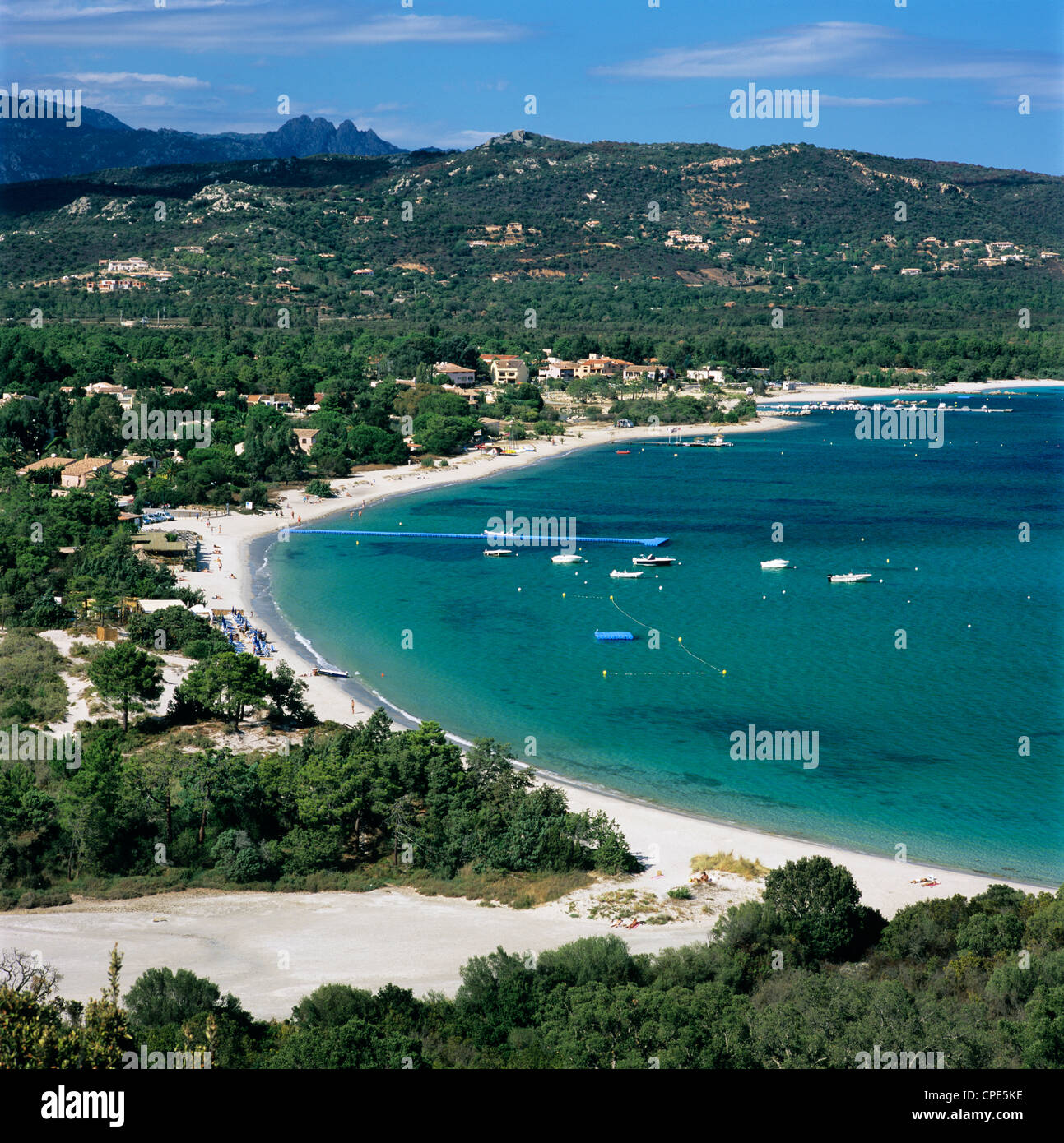San Ciprianu beach, near Porto Vecchio, South East Corsica ...