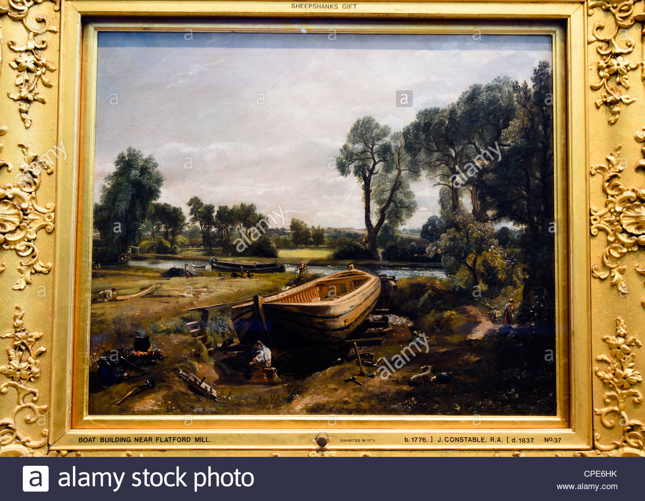 Boat-Building near Flatford Mill by John Constable (1776-1837 Stock ...