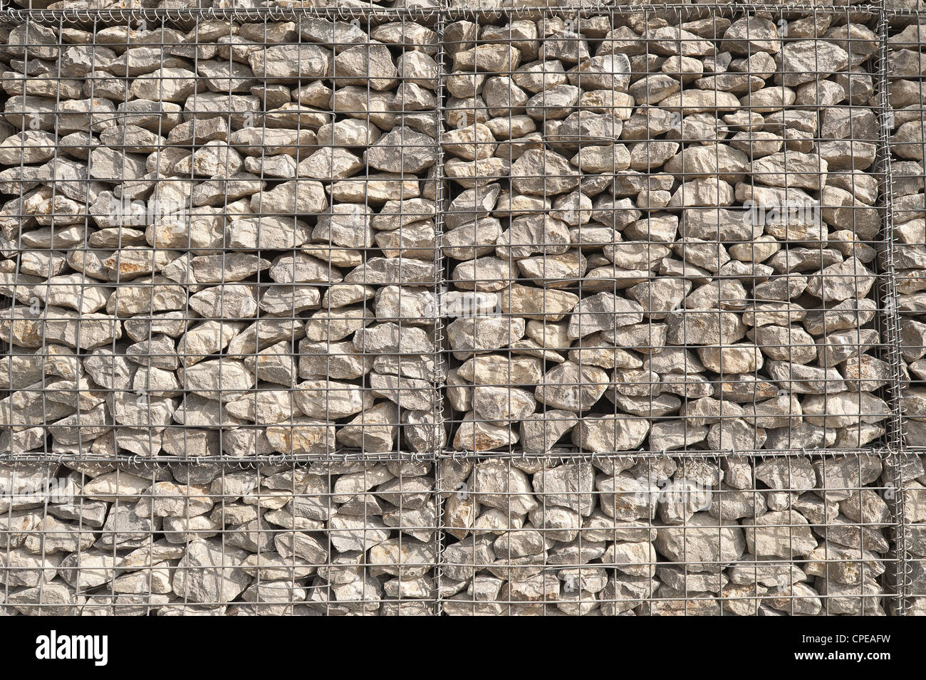 Caged Rock Riprap In Stainless Steel Frames Used As A
