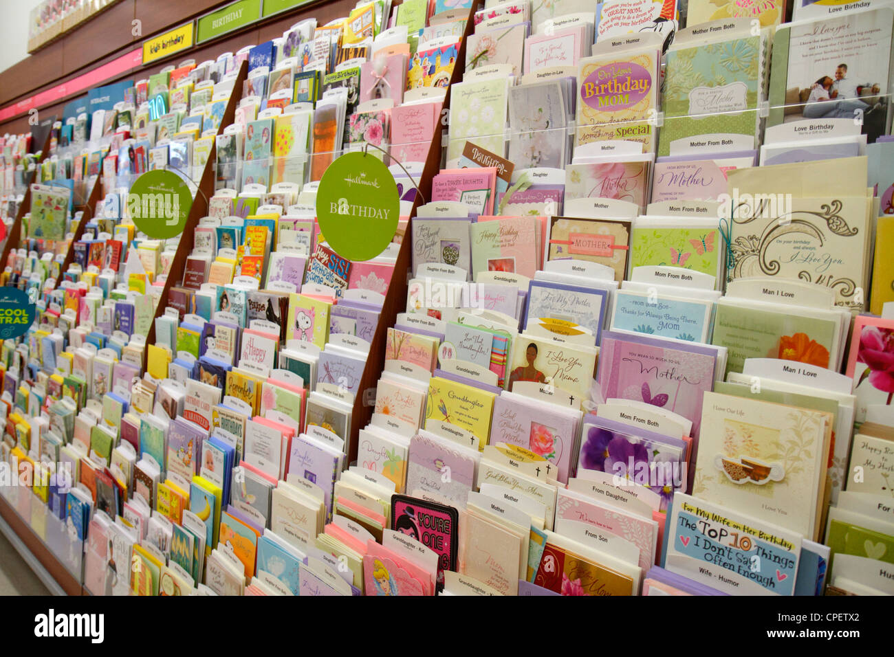 birthday cards display stock photos  birthday cards display stock, Birthday card