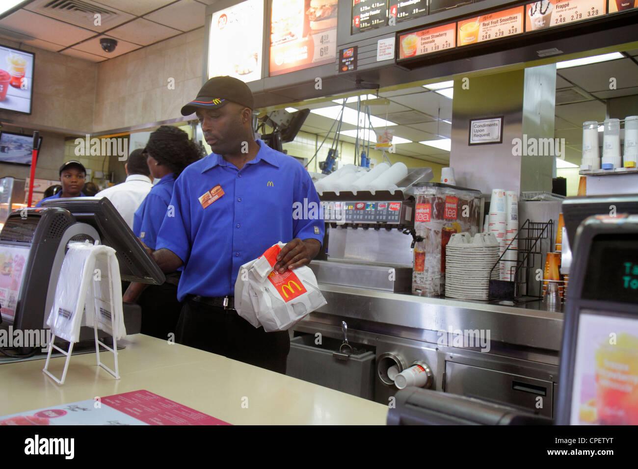 Miami Florida McDonald's fast food restaurant interior ...