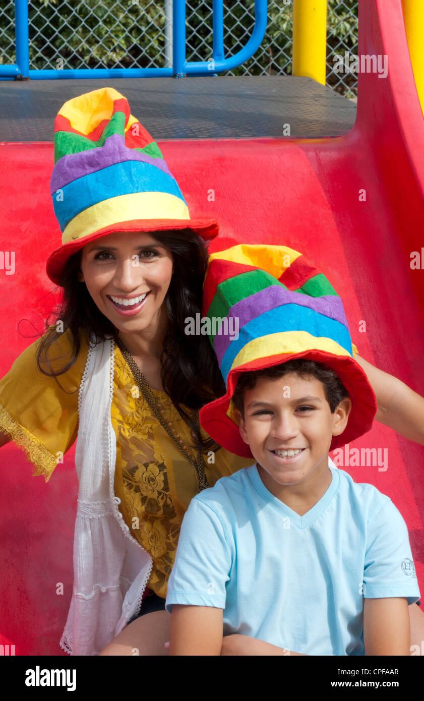 Spanish mom and son