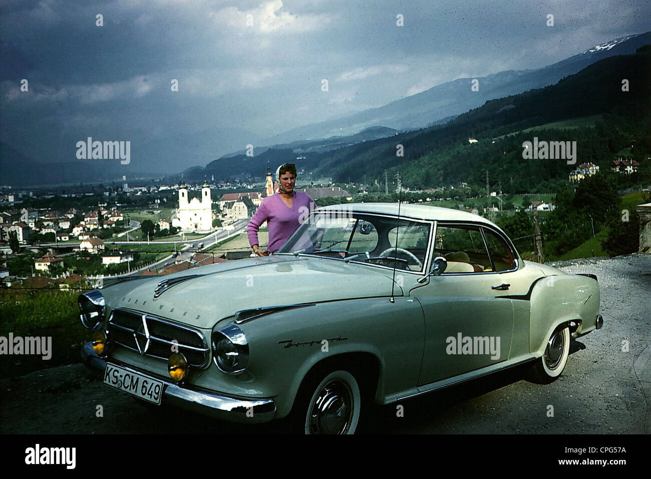 Colored cars zwickau -  Transport Transportation Car Vehicle Variants Borgward Isabella Coupe 1950s 50s