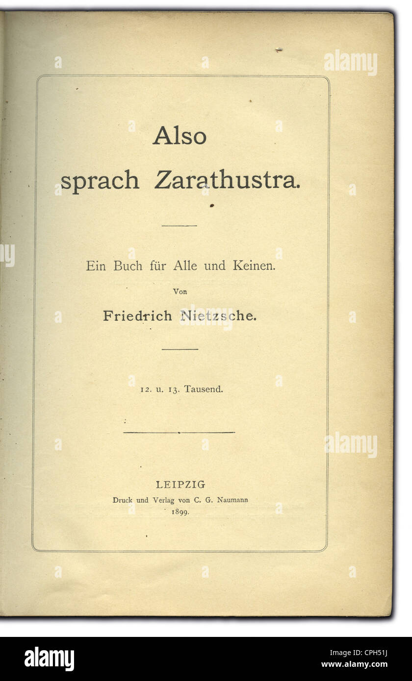 an analysis of thus spoke zarathustra by nietzsche Thus spoke zarathustra: a book  the will to power is a psychological analysis of all human action and is  of friedrich nietzsche's thus spake zarathustra:.