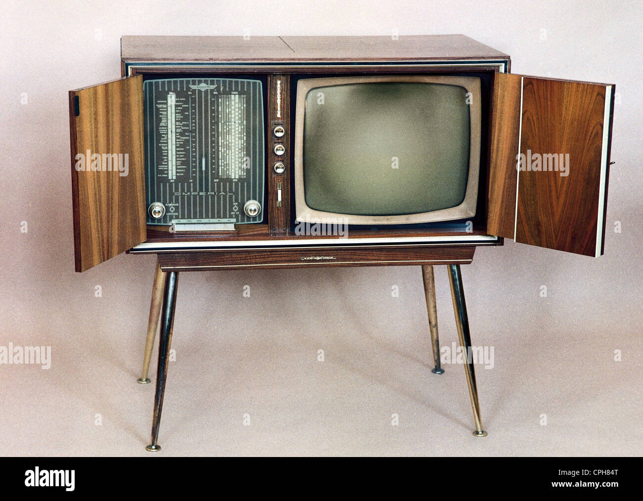 Broadcast, Television, Television Cabinet Imperial Manuela 1223, Tv Set  Combinated Cabinet With Built In Radio And Record Player