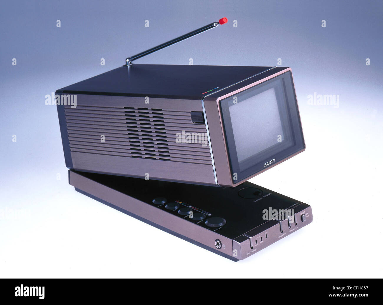 sony tv small. stock photo - broadcast, television, colour tv set sony kv-4000, trinitron color receiver, first small set, japan, 1980, design tv s