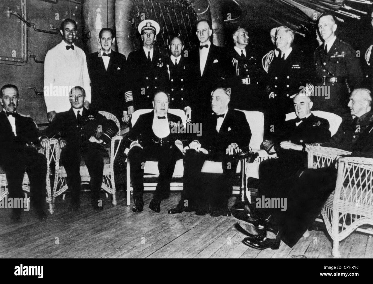 General george c marshall quotes - Group Portrait Showing Winston Churchill Franklin D Roosevelt And General George C
