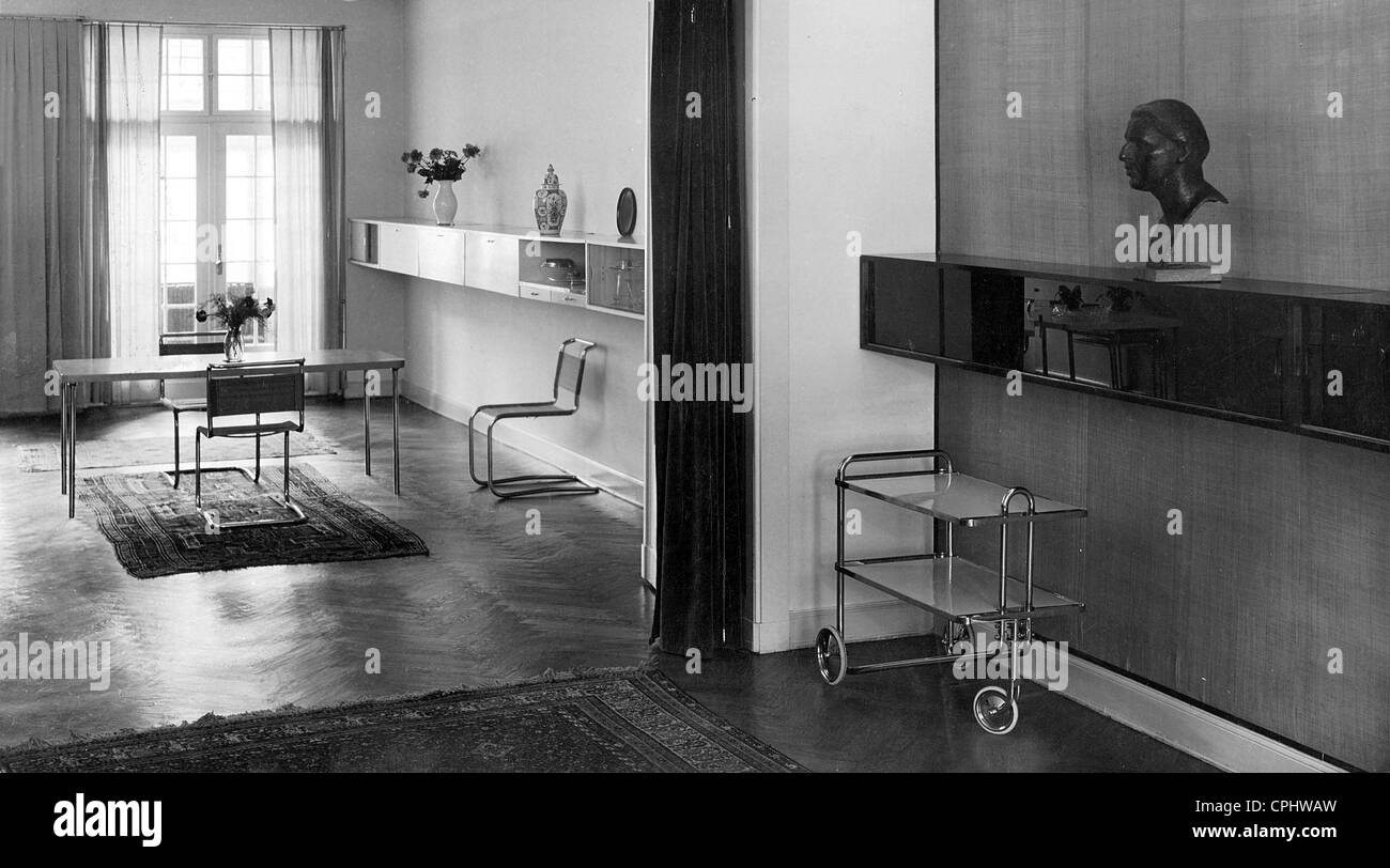 Interior decoration in Bauhaus style created by Marcel Breuer 1926