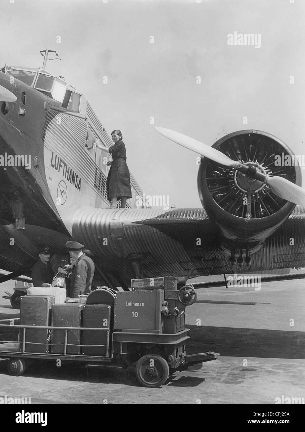 Junkers Berlin junkers ju 52 at airport tempelhof in berlin 1939 stock photo royalty free image 48340134 alamy