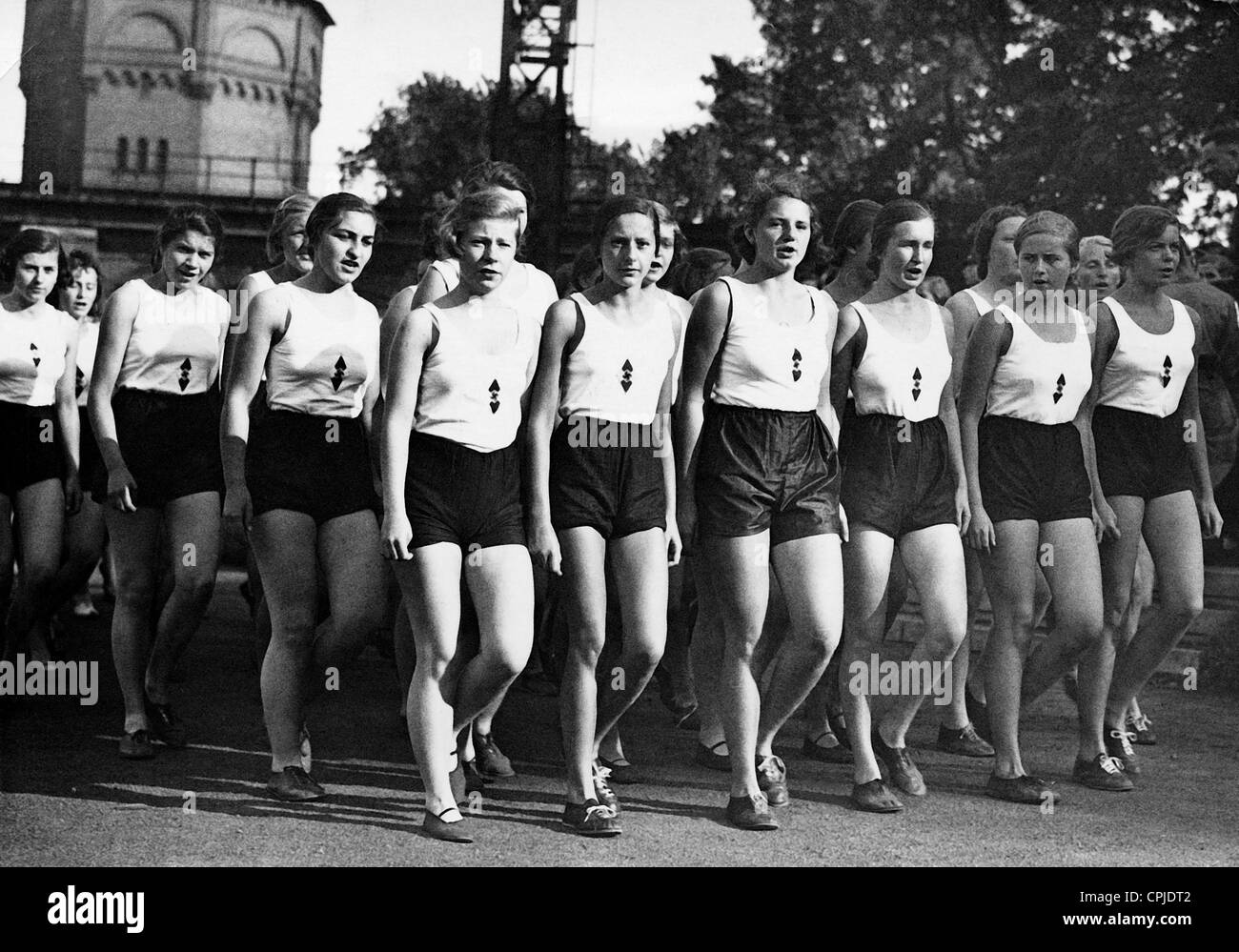 Sports day of the federation of german girls 1934 stock photo sports day of the federation of german girls 1934 voltagebd Image collections