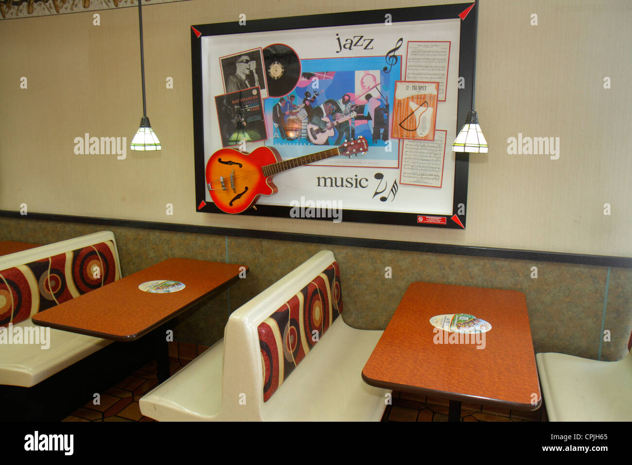 Miami florida mcdonald 39 s fast food restaurant interior for Another word for food decoration
