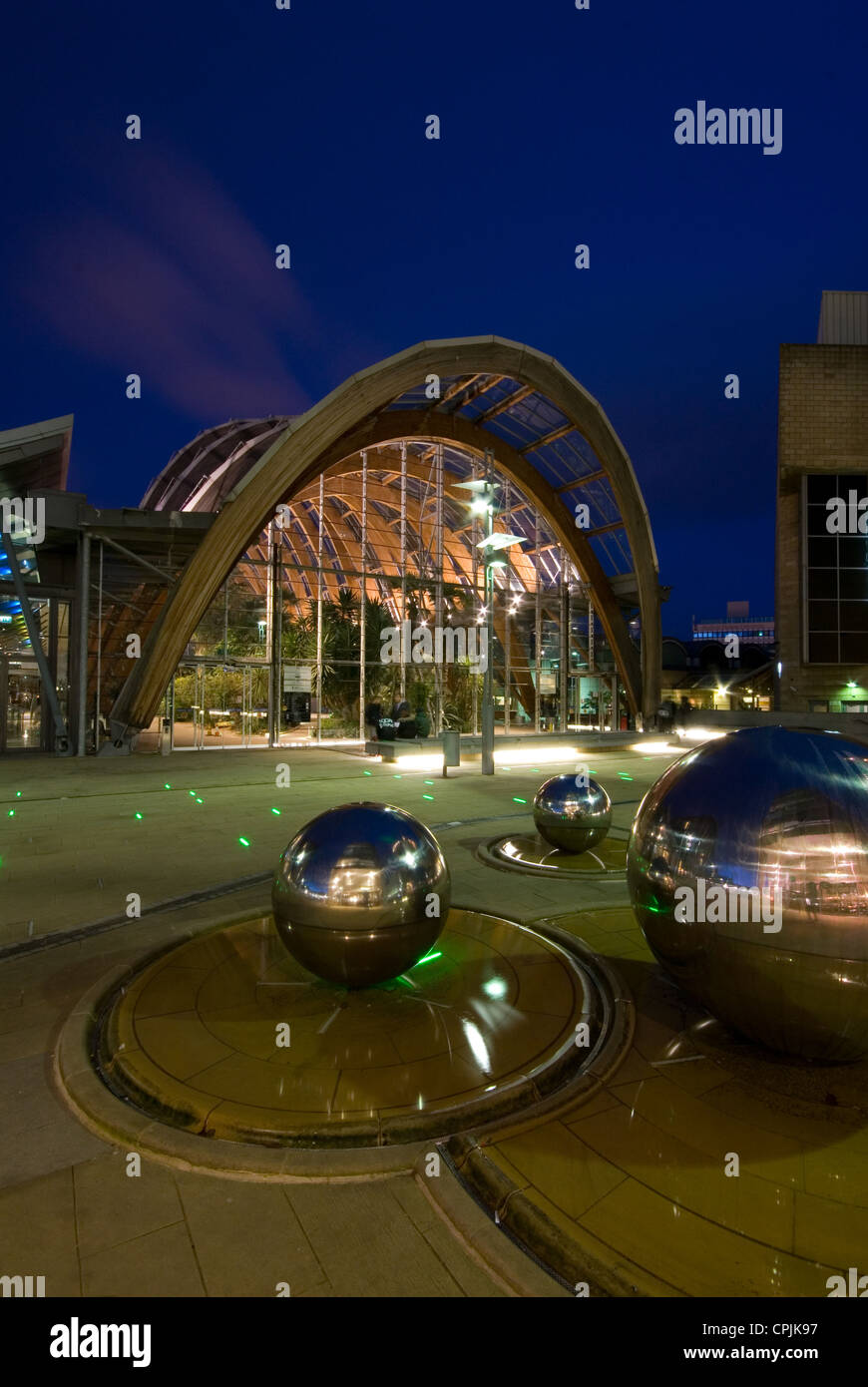 sheffield winter garden city of sheffield uk stock photo