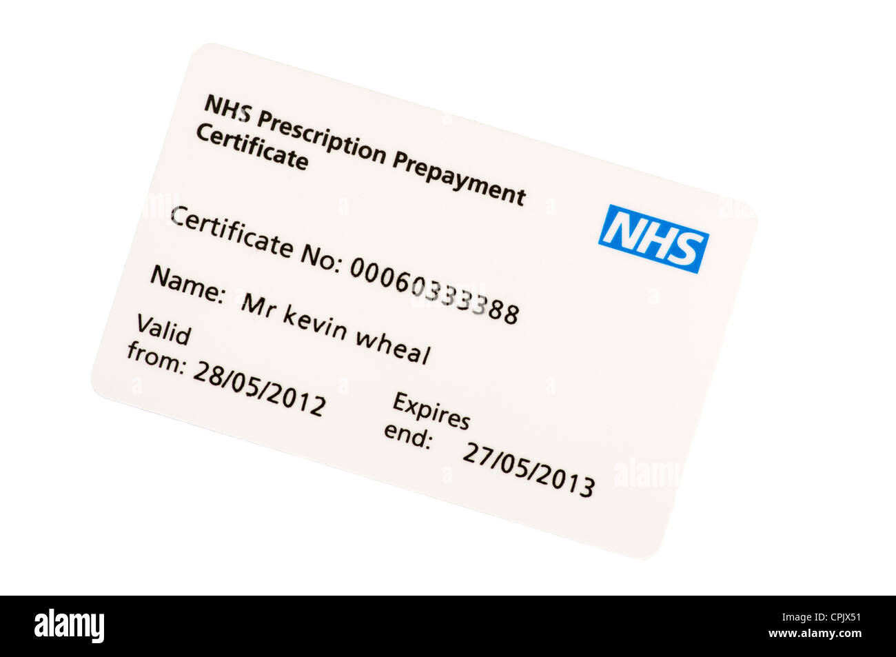 Nhs prescription payment card