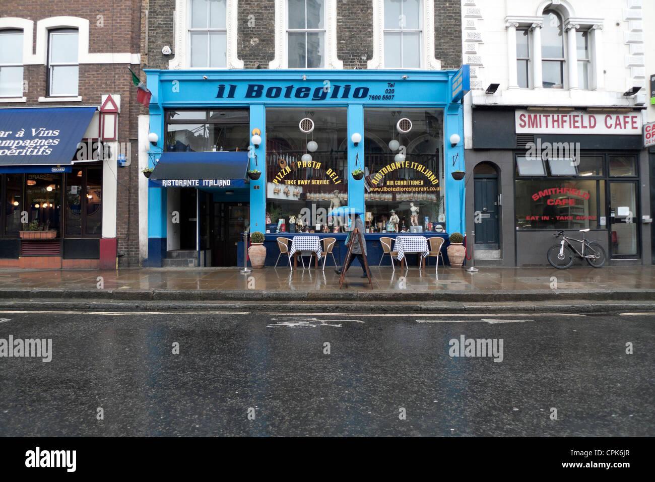 Italian restaurant exterior - Il Boteglio Italian Restaurant Exterior Long Lane Smithfield London England Uk Kathy Dewitt Stock Image