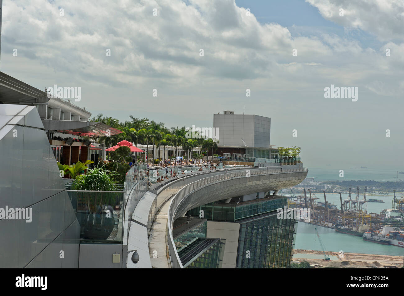 Swimming Pool On Skydeck Sands Hotel Singapore Stock Photo Royalty Free Image 48369030 Alamy