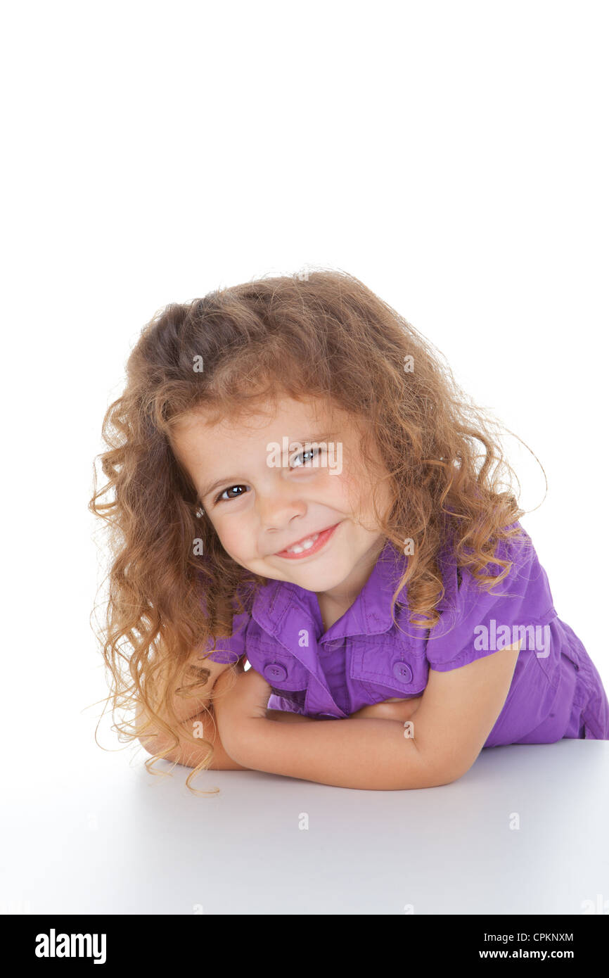cute little with a beautiful smile stock photo royalty free