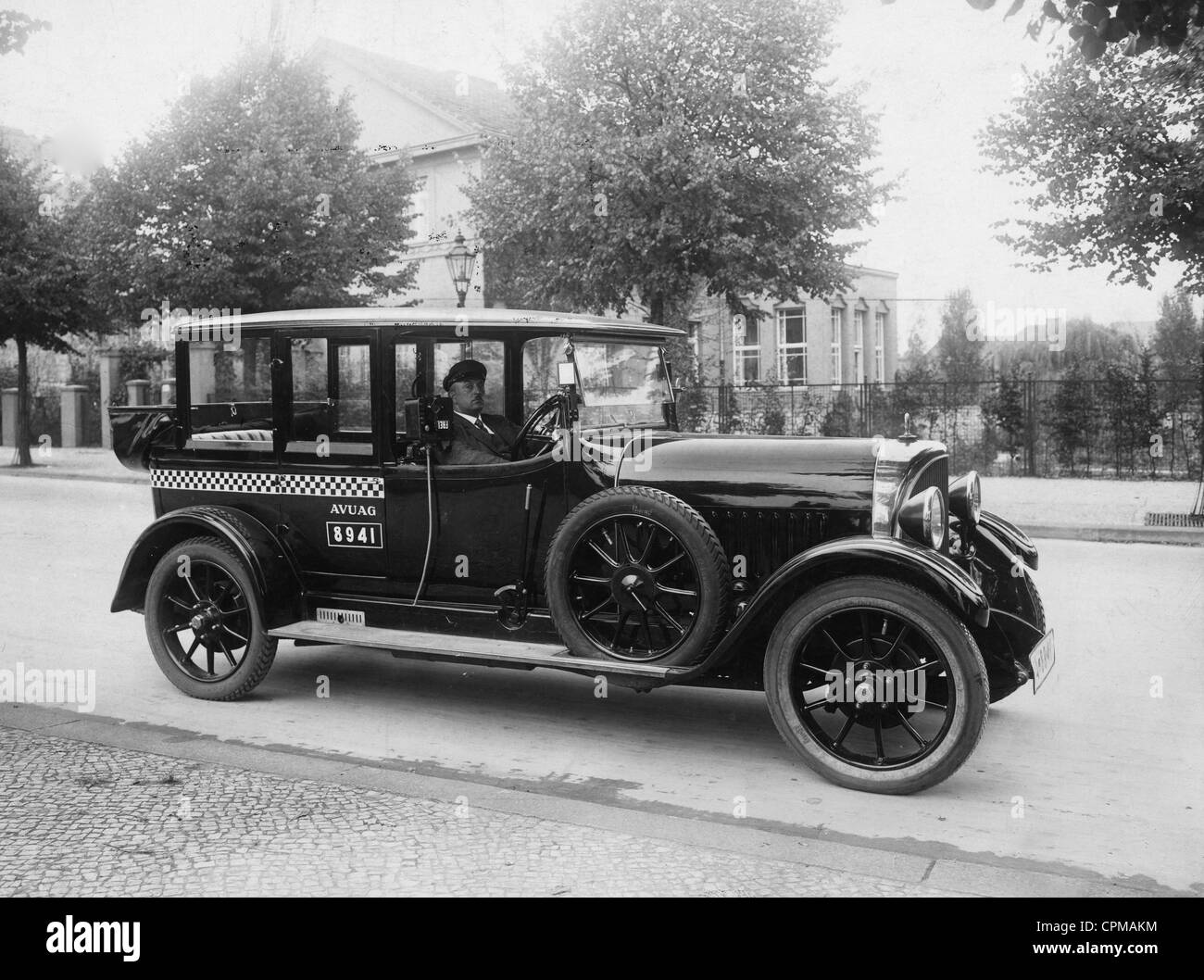 taxi in berlin 1926 stock photo royalty free image. Black Bedroom Furniture Sets. Home Design Ideas