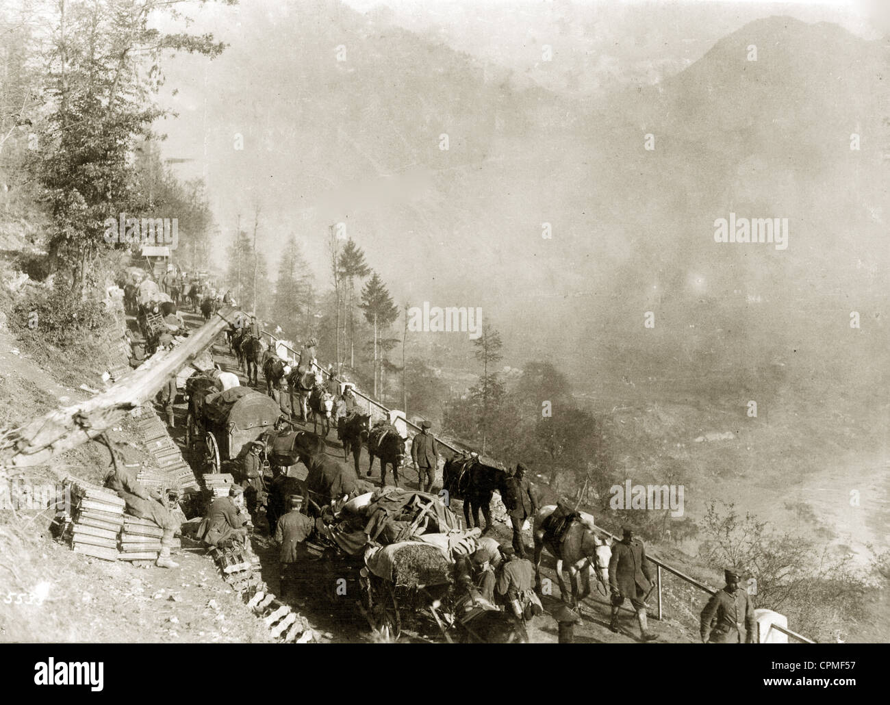 Battle isonzo first world war stock photos battle isonzo first german supply convoy during the 12th battle of the isonzo 1917 stock image sciox Gallery