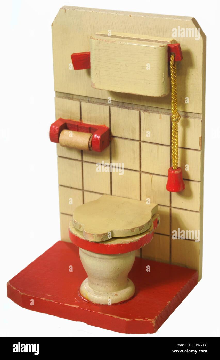 Toy Toilet Flushing Sound : Toys doll s house toilet germany circa water
