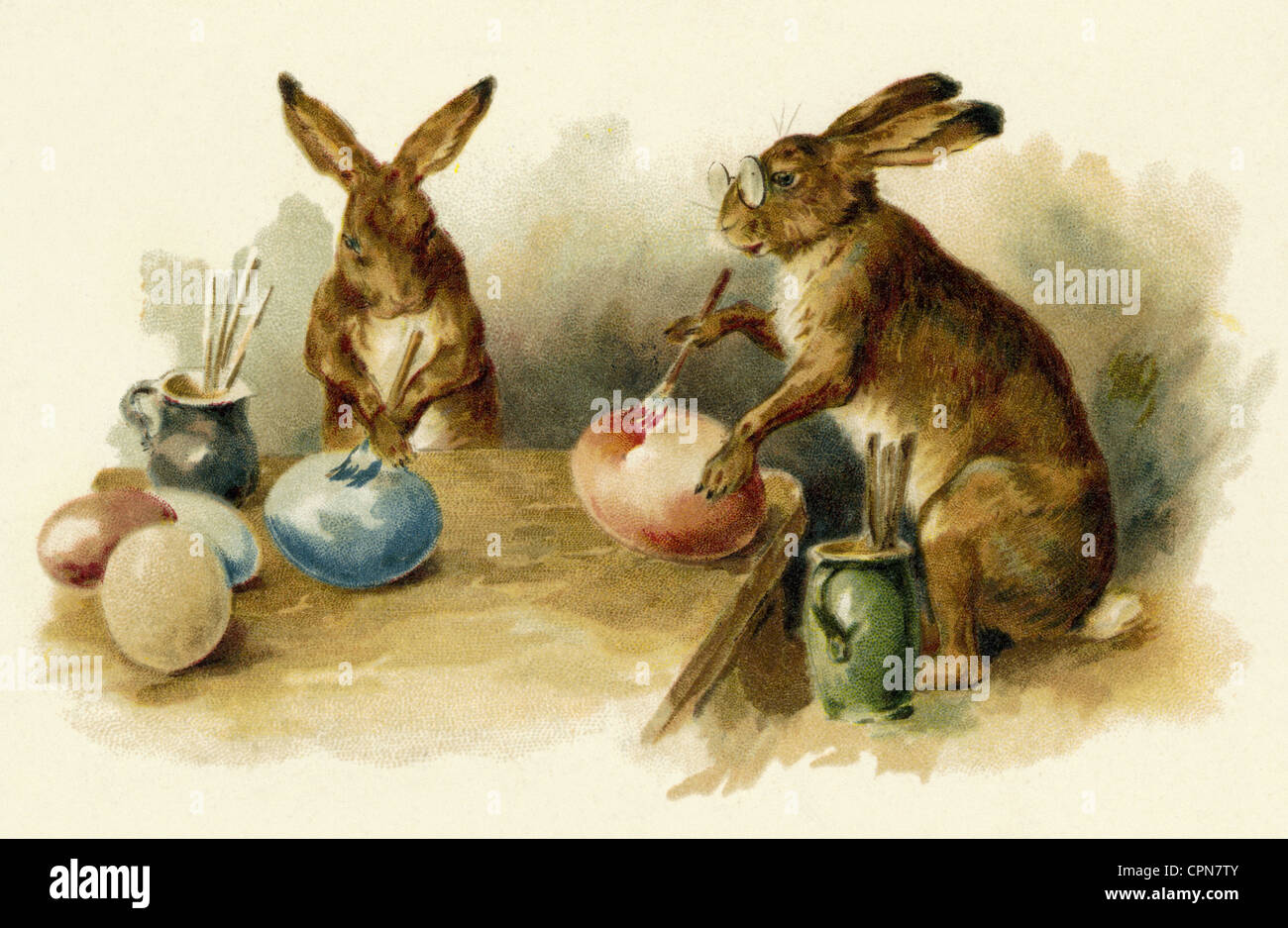 easter easter bunny easter bunnies painting easter eggs austria