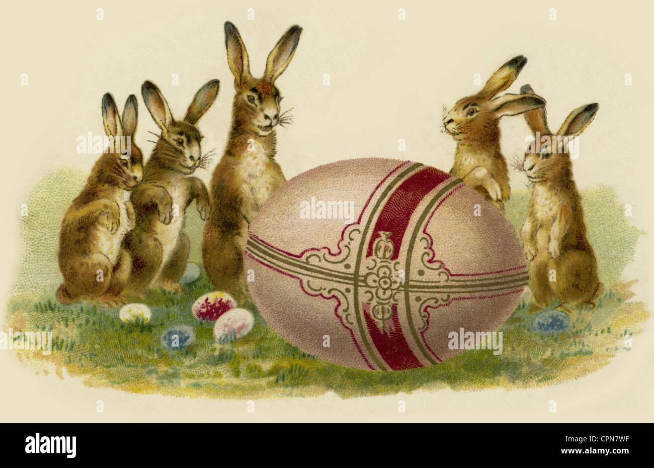 easter easter bunny easter bunnies with easter eggs belgium