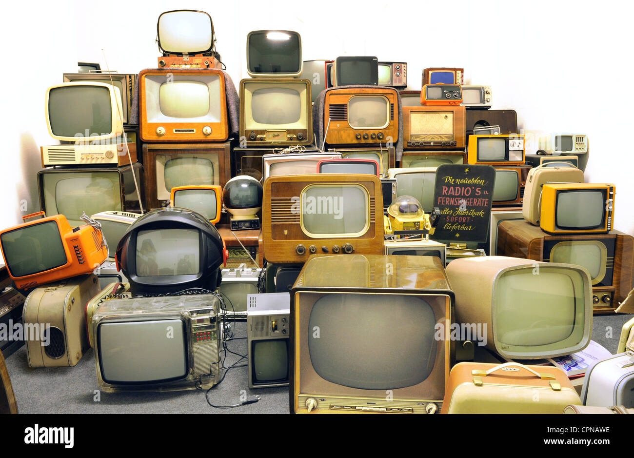 Collection of old television sets of the 50s stock photos broadcast television collection of old television sets of the 50s 60s and 70s buycottarizona
