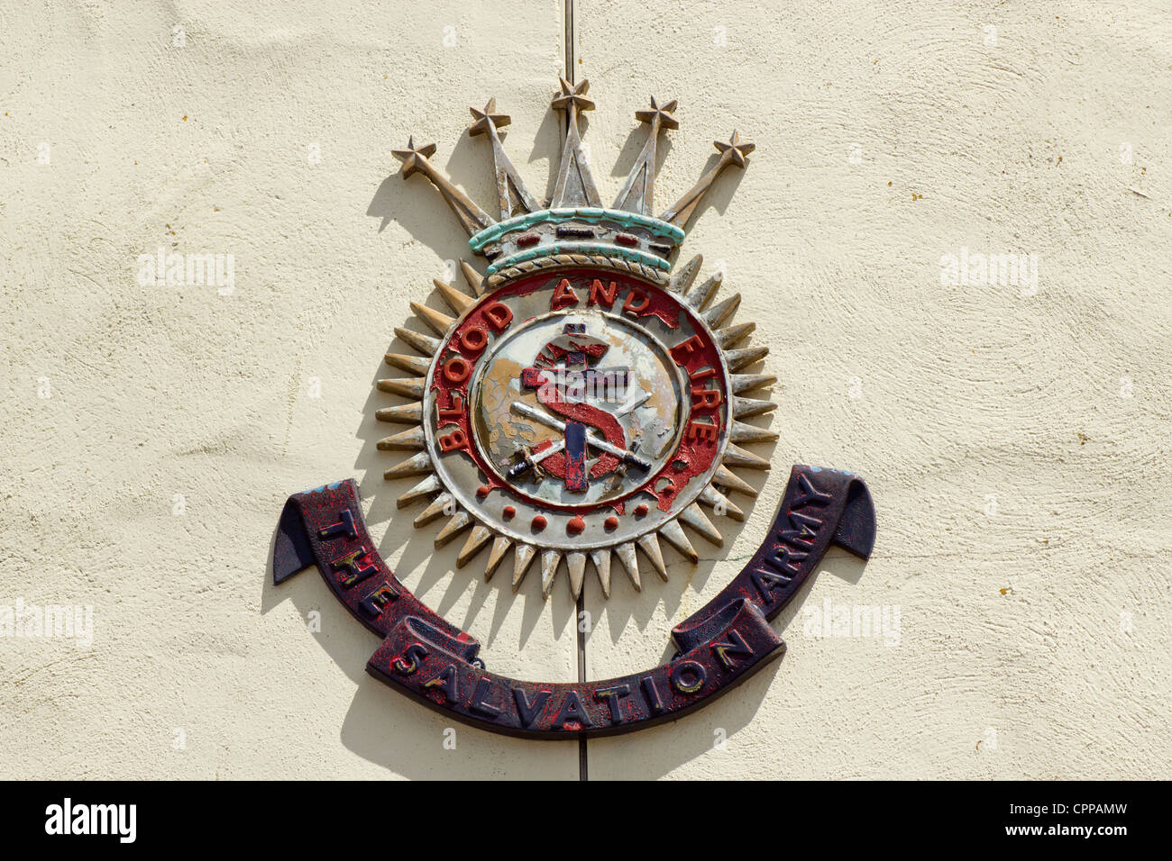 The salvation army weathered emblem symbol and motto blood and fire the salvation army weathered emblem symbol and motto blood and fire close up biocorpaavc Choice Image