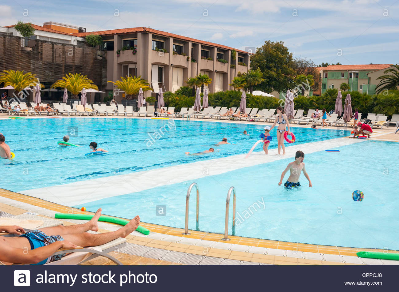 South Of France Province Club Med Opio Swimming Pool Surrounded Stock Photo Royalty Free