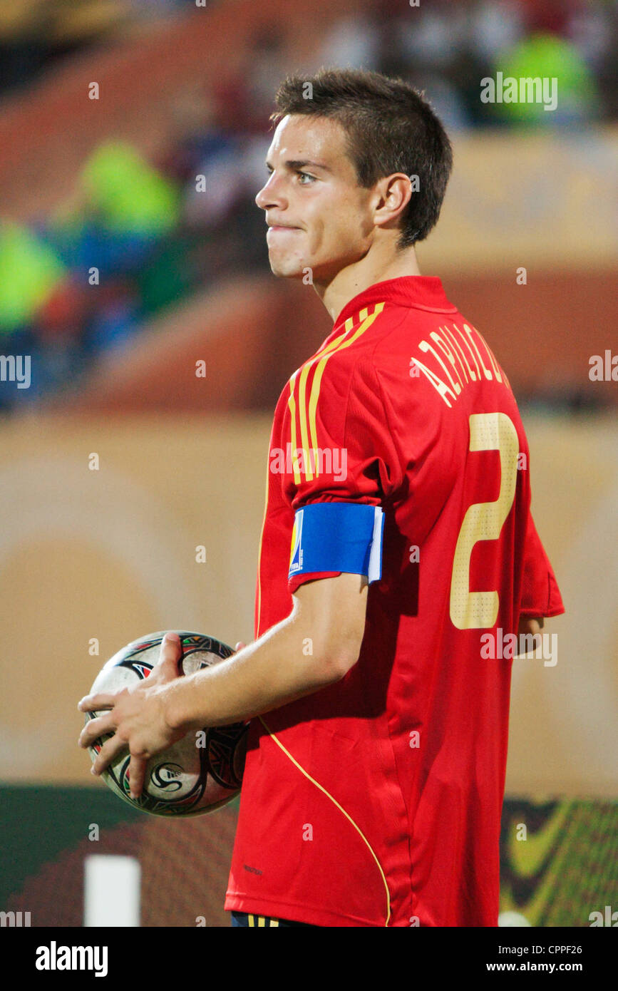 Spain team captain Cesar Azpilicueta in action during a FIFA U 20