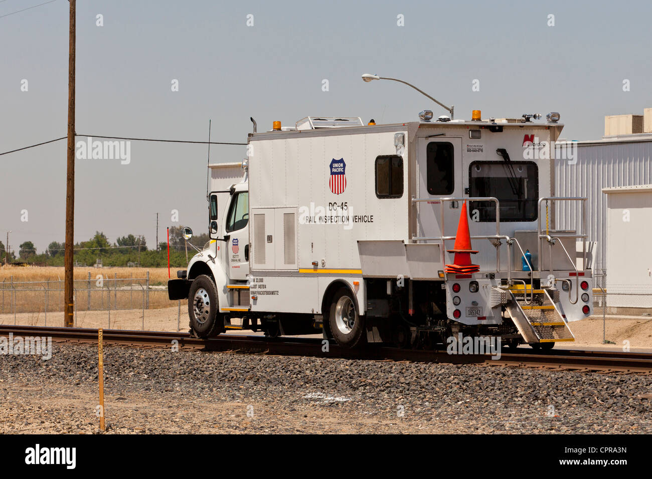 Dc 45 Rail Inspection Vehicle Union Pacific Stock Photo