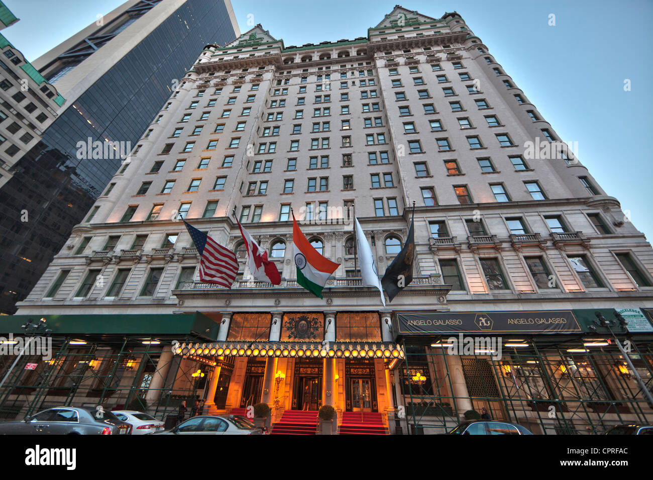 the plaza hotel owned by fairmont hotels in manhattan new york city stock photo royalty free. Black Bedroom Furniture Sets. Home Design Ideas