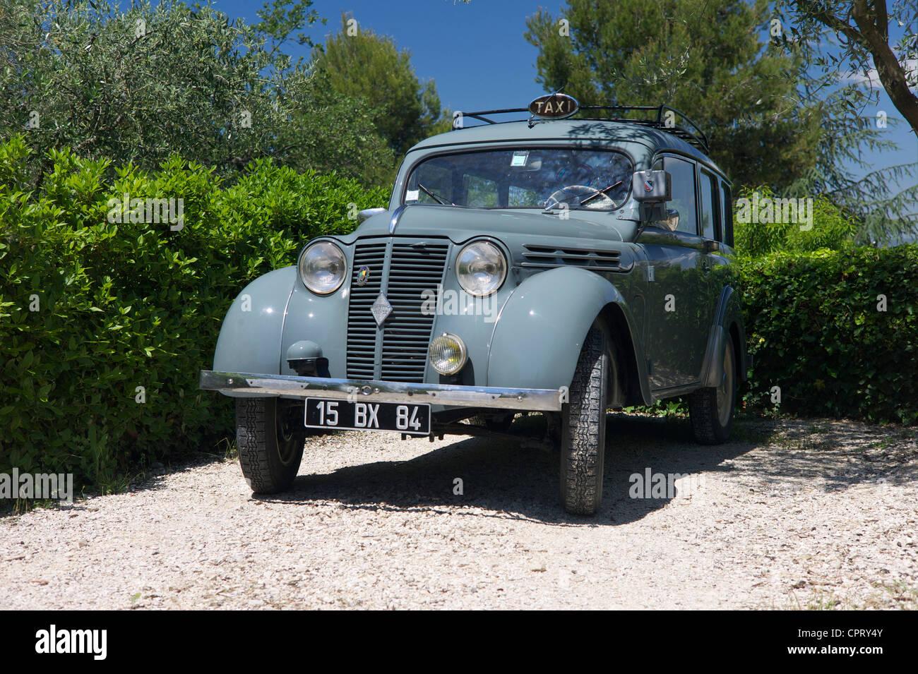 Renault Dauphinoise (Juvaquatre break) vintage car, France Stock ...